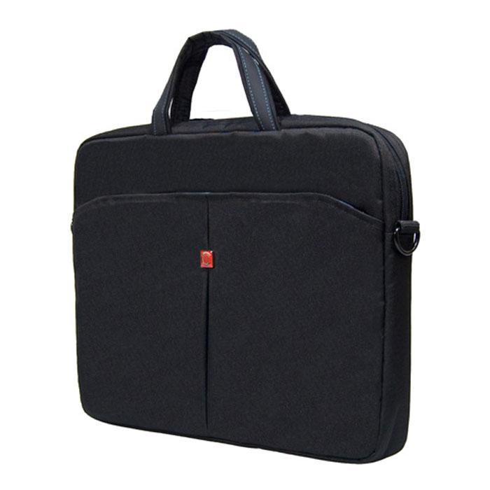 Continent CC-01, Black cумка для ноутбука 15,6CC-01Continent CC01 - стильная простая и функциональная сумка для ноутбука.