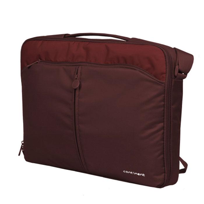 Continent CC-02, Cranberry сумка для ноутбука 15,6