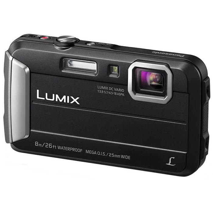 Panasonic Lumix DMC-FT30, Black цифровая фотокамераDMC-FT30EE-KPanasonic Lumix DMC-FT30 отличается повышенной надежностью и работает под водой на глубине до 8 м / 26 футов. Режимы замедленной съемки, Творческой панорамы и масса прочих, а также богатый арсенал замечательных фильтров делают работу с камерой еще приятнее. Водостойкость и надежность для экстремального использования: Порадуйте себя удобной универсальной сьемкой как в городе, так на природе. Эта модель идеально подходит для любых условий. Встроенная память 220 МБ: 220 МБ встроенной памяти для лишних 34 кадров на случай, если память на карте закончится. Восхитительные фотографии под водой: Воспроизведение красного цвета в режиме расширенной подводной съемки компенсирует недостаток красного цвета при подводной съемке и делает изображение более натуральным и естественным. Режимы Спорт, Снег и Пляж и серфинг также легко доступны в удобном меню. MEGA O.I.S. (Оптический стабилизатор изображения): MEGA O.I.S....