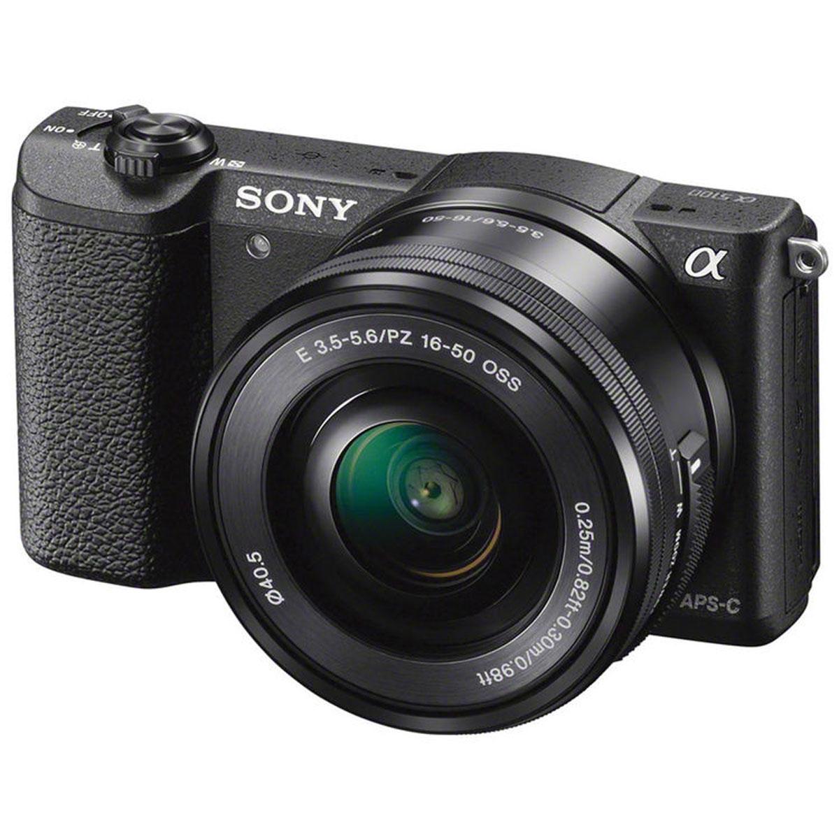 Sony Alpha A5100 Kit 16-50mm E PZ, Black цифровая фотокамераILCE5100LB.CECSony Alpha A5100 - цифровая фотокамера со сменной оптикой для профессиональных результатов. Быстрый гибридный автофокус обеспечивает невероятную четкость и контрастность изображений и видео — вы не упустите ни одного кадра. Технология 4D FOCUS обеспечивает непревзойденную работу системы автофокуса в четырех измерениях: широкая зона охвата (2 измерения по горизонтали и вертикали), скорость работы автофокуса (3-е измерение, глубина) и следящий автофокус с упреждением (4-е измерение, время). Эта компактная камера с несколькими режимами автофокуса позволяет всегда получать потрясающие снимки. Следите за движущимися объектами, настраивайте размер кадра и получайте невероятно точную фокусировку. Совершенная матрица Exmor APS-C CMOS и усовершенствованный процессор изображений BIONZ X Размещение интегральных линз без зазоров оптимизирует светосилу и минимальный уровень шума. Улучшенный процессор использует алгоритм понижения шума для фотографий при...