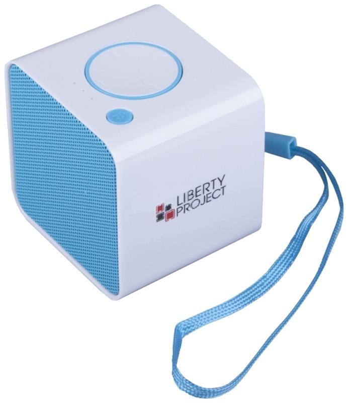 Liberty Project LP-168, White Blue беспроводная колонкаR0007636Liberty Project LP-168 - это компактная портативная акустическая система, совместимая с большинством аудиоустройств. Небольшие размеры и встроенный аккумулятор дают возможность использовать колонки в мобильном режиме, в любом месте, где нет электричества. Скромные с виду динамики обеспечивают вполне серьезную громкость и с легкостью озвучивают небольшое помещение или место пикника, отдыха. Для подключения можно использовать стандартный аудиоразъем 3.5 мм. Liberty Project LP-168 - прекрасное решение для всех, кто хочет слушать любимую музыку в компании и не зависеть от розетки. Кроме того, у данной модели акустики есть возможность воспроизводить аудиофайлы непосредственно с карты памяти или обычной USB-флешки.