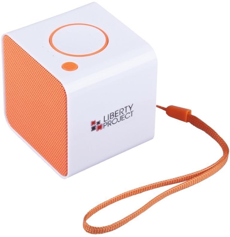 Liberty Project LP-168, White Orange беспроводная колонкаR0007638Liberty Project LP-168 - это компактная портативная акустическая система, совместимая с большинством аудиоустройств. Небольшие размеры и встроенный аккумулятор дают возможность использовать колонки в мобильном режиме, в любом месте, где нет электричества. Скромные с виду динамики обеспечивают вполне серьезную громкость и с легкостью озвучивают небольшое помещение или место пикника, отдыха. Для подключения можно использовать стандартный аудиоразъем 3.5 мм. Liberty Project LP-168 - прекрасное решение для всех, кто хочет слушать любимую музыку в компании и не зависеть от розетки. Кроме того, у данной модели акустики есть возможность воспроизводить аудиофайлы непосредственно с карты памяти или обычной USB-флешки.