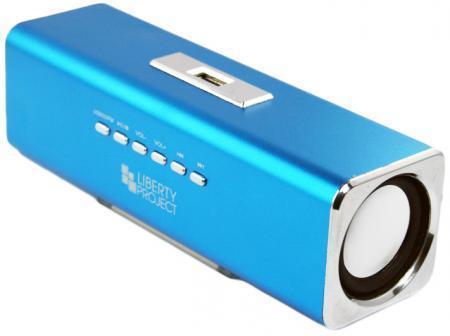 Liberty Project K-101, Blue портативная колонкаCD124409Liberty Project K-101 - это компактная портативная акустическая система, совместимая с большинством аудиоустройств. Небольшие размеры и встроенный аккумулятор дают возможность использовать колонки в мобильном режиме, в любом месте, где нет электричества. Скромные с виду динамики обеспечивают вполне серьезную громкость и с легкостью озвучивают небольшое помещение или место пикника, отдыха. Для подключения можно использовать стандартный аудиоразъем 3.5 мм. Liberty Project K-101 - прекрасное решение для всех, кто хочет слушать любимую музыку в компании и не зависеть от розетки. Кроме того, у данной модели акустики есть возможность воспроизводить аудиофайлы непосредственно с карты памяти или обычной USB-флешки.