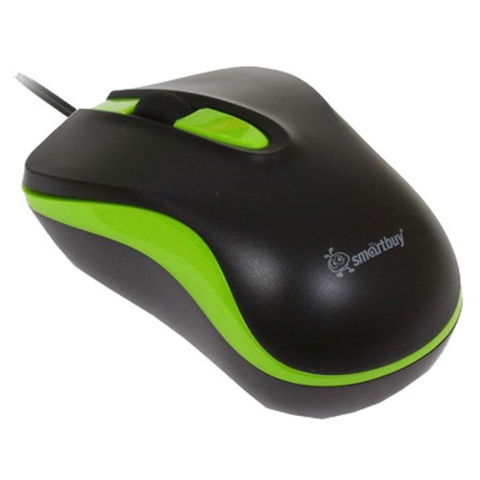 Smartbuy SBM-317-KN, Black Green проводная мышьSBM-317-KNПроводная оптическая мышь Smartbuy SBM-317 предназначена как для правой, так и для левой руки. Используется в работе с ноутбуком, имеет 3 кнопки, разрешение датчика 1000 dpi.