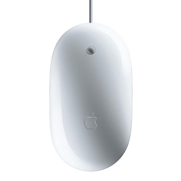 Apple Wired Mighty Mouse-ZML (MB112ZM/С)MB112ZM/СApple Wired Mighty Mouse-ZML - стильная проводная мышь для комфортной работы. Мышь Apple Mouse выглядит как обычная однокнопочная мышь, но в её гладком корпусе скрыт удивительный секрет. Сенсорная технология определяет, в какой части мыши вы нажимаете, поэтому вам доступны функции нажатия правой и левой кнопок. А если вы предпочитаете простоту классической однокнопочной мыши, Apple Mouse вам тоже подойдёт. Просто настройте её, как вам удобно, на панели системных настроек Mac OS X. Шарик прокрутки Apple Mouse идеально расположен на корпусе мыши: им удобно управлять всего одним пальцем. Шарик даёт возможность прокрутки на 360 градусов: вверх, вниз, влево, вправо и по диагонали. Можно прокручивать длинные веб-страницы, панорамировать полноразмерные изображения, перемещаться по большим таблицам, управлять временной шкалой при воспроизведении фильмов и многое другое. Можно даже нажать шарик прокрутки, чтобы получить доступ к вашим любимым функциям Mac...