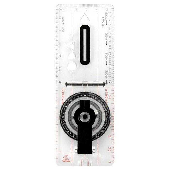 Профессиональный компас COGHLANS88Coghlans 0088 - жидкостный компас с прочной прозрачной основой, оснащенный пятью шкалами для карт. Благодаря наличию специальной разметки можно ориентировать направление движения по азимуту с большой точностью. Специальные фигурные отверстия предназначены для меток на карте. В комплекте идёт специальный чехол.