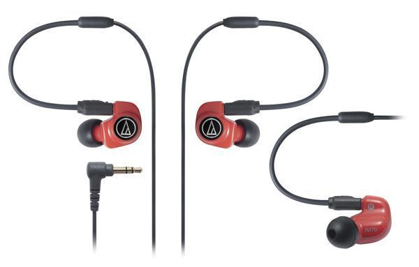 Audio-Technica ATH-IM70 наушники15117641Audio-Technica ATH-IM70 – мощные динамические наушники-вставки, с начинкой из двух симфонических излучателей (dual symphonic drivers). Наушники отличаются широкой звуковой сценой, выдающимися басами, отличными высокими частотами – все благодаря специально разработанной «двухдрайверной» системе, которая объединяет воедино два излучателя и в которой оба излучателя способны полноценно воспроизводить весь частотный диапазон, звуча параллельно друг другу и тем самым устраняя гармонические искажения друг друга. Корпус ATH-IM70 выполнен из особого сплава смолы, а также алюминия. Такая комбинация прекрасно справляется с излишними резонансами и делает звук исключительно чистым. Съемный кабель, чехол и набор комфортных звукоизолирующих амбушюр в комплекте - приятные особенности модели.