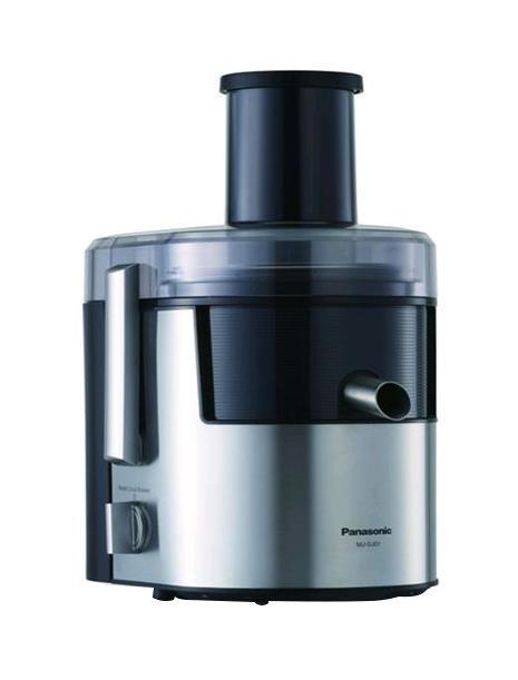 Panasonic MJ-DJ31STQ соковыжималкаMJ-DJ31STQS-образный нож полностью металлической центрифуги крепко удерживает фрукт на одном месте, пока идет отжим сока, а центробежная сила удаляет мякоть. Соковыжималка работает более эффективно, потому что фрукт не вращается. Тщательный отжим достигается благодаря ножу с малым углом, а мелкоячеистая сетка отделяет сок от мякоти, так что у вас всегда получится освежающий, утоляющий жажду напиток Сменный кувшин блендера и мельница делают соковыжималку устройством 3 в 1. Вы сможете обогатить коктейли полезной клетчаткой, добавляя кожуру фруктов и жесткую сердцевину овощей. Мельница позволит вам насладиться богатым вкусом кофе из свежемолотых зерен, а также разнообразными специями