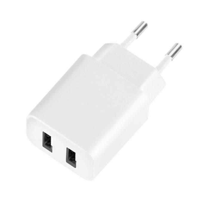 Deppa Ultra Duo 2.1A, White сетевое зарядное устройство11307Зарядное устройство Deppa Ultra Duo 2.1A предназначено для заряда батареи мобильных телефонов, смартфонов и других цифровых устройств через USB при использовании соответствующего кабеля от сети 100В/240В. Два порта USB позволят заряжать два девайса одновременно.