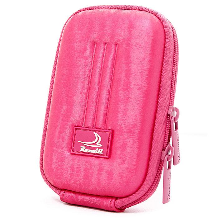Roxwill B10, Pink чехол для фото- и видеокамерB10 pinkRoxwill B10 - надежный чехол для компактных фотокамер. Он гарантированно защитит вашу камеру от случайных ударов и царапин, а также от пыли и влаги. Изделие изготовлено из EVA (вспененная резина). Данный материал не подлежит воздействию агрессивных веществ и предохраняет фотоаппарат при падении. Для переноски предусмотрен регулируемый шейный ремешок и возможность крепления на поясном ремне.
