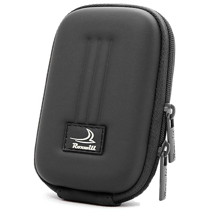 Roxwill B30, Black чехол для фото- и видеокамерB30 blackRoxwill B30 - надежный чехол для компактных фотокамер. Он гарантированно защитит вашу камеру от случайных ударов и царапин, а также от пыли и влаги. Изделие изготовлено из EVA (вспененная резина). Данный материал не подлежит воздействию агрессивных веществ и предохраняет фотоаппарат при падении. Для переноски предусмотрен регулируемый шейный ремешок и возможность крепления на поясном ремне.