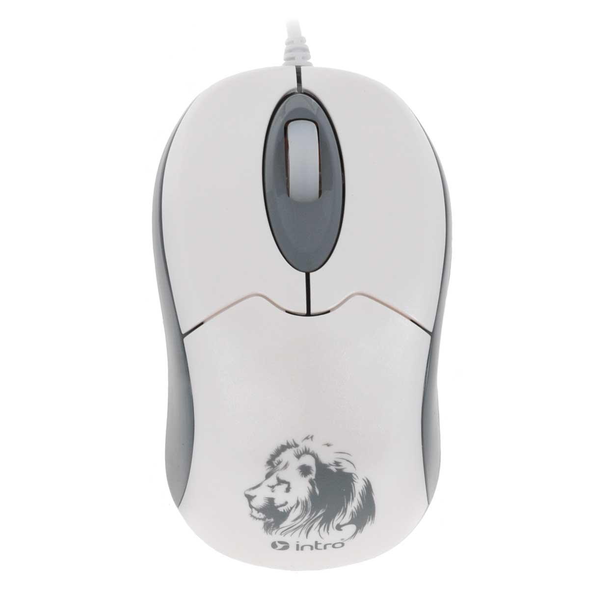 Intro MU204, White мышьMU204Стильная проводная мышь Intro MU204 обладает эргономичным дизайном и отлично подходит как для игр, так и для работы в офисе.