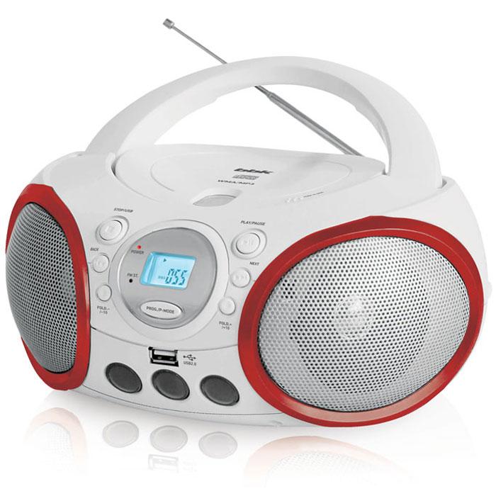 BBK BX150U, White Red CD/MP3 магнитолаBX150UЯркая СD/MP3-магнитола с ЖК-дисплеем BBK BX150U в новом стильном дизайне никого не оставит равнодушным. Черно-зеленая и черно-желтая модели серии Limited Edition выполнены с применением специального покрытия Soft touch (прорезинены), благодаря чему их приятно держать в руке и они менее подвержены возникновению царапин или иных повреждений при эксплуатации. Технология Pure Sound способствует подавлению посторонних шумов и нежелательных помех, за счет чего достигается максимально чистое звучание. Наличие USB-порта и линейного аудиовхода AUX IN позволяет подключить к магнитоле практически все внешние источники сигнала, а режимы воспроизведения в произвольном порядке (RANDOM) и программируемое воспроизведение (P-Mode) дают возможность создать плей-лист под любое настроение. Также стоит отметить наличие FM/AM-тюнера для приема эфирныхрадиостанций.