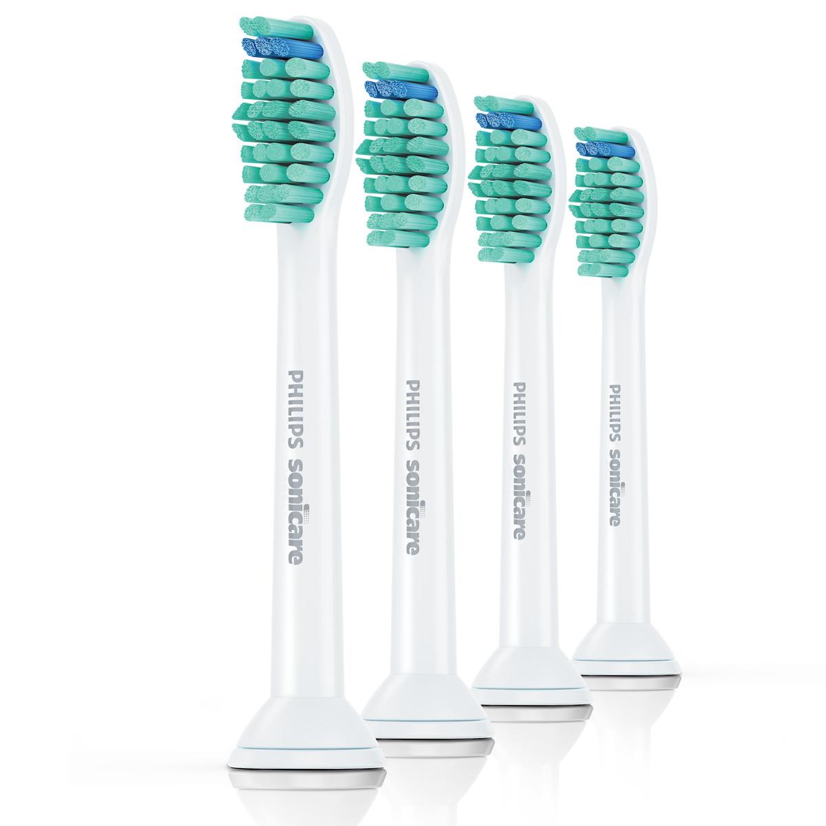 Philips HX6014/07 чистящая головка для зубного центра FlexCare и звуковой зубной щетки HealthyWhite, 4 шт