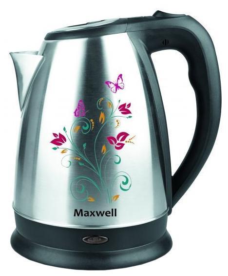 Maxwell MW-1074(ST) электрочайникMW-1074(ST)Maxwell MW-1074 характеризуется металлическим исполнением и средним объемом. В данной модели, нагревательный элемент представлен в виде закрытой спирали. К основным достоинствам закрытой спирали следует отнести более быстрый нагрев и простоту ухода. Благодаря подобной конструкции чайник можно использовать для кипячения как одного стакана, так и полного объема. Прибор легко моется. Достаточная мощность обеспечит пользователя кипяченой водой уже через несколько минут после включения. О включенном состоянии информирует специальный индикатор. Прочная конструкция обеспечивает длительный срок службы. Устройство не боится легких механических повреждений и благодаря своему неброскому, эргономичному дизайну станет превосходным дополнением любого интерьера. Безопасность, качество, удобство и эффективность - это ключевые свойства данной модели. Электрические чайники торговой марки Maxwell – это большой ассортимент моделей. Среди них вы сможете выбрать вариант, который...
