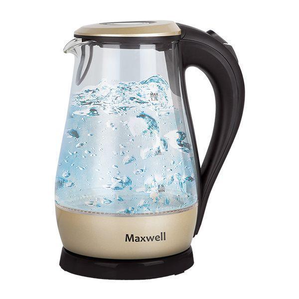 Maxwell MW-1041(GD) электрочайникMW-1041(GD)лектрические чайники торговой марки Maxwell – это большой ассортимент моделей. Среди них вы сможете выбрать вариант, который гармонично будет смотреться на кухне, по объему резервуара соответствовать количеству членов вашей семьи и полностью устраивать вас по функциональности. Среди изобилия моделей предлагаются как самые простые чайники, так и усовершенствованные приборы с наличием дополнительных опций. Среди некоторых особенностей функциональных чайников можно выделить возможность регулировки температуры нагрева воды и заваривания чая непосредственно в чайнике. Каждый чайник Maxwell уникален. Разный дизайн, форма, мощность и объем дают возможность выбора, подчеркивая ваш изысканный вкус.