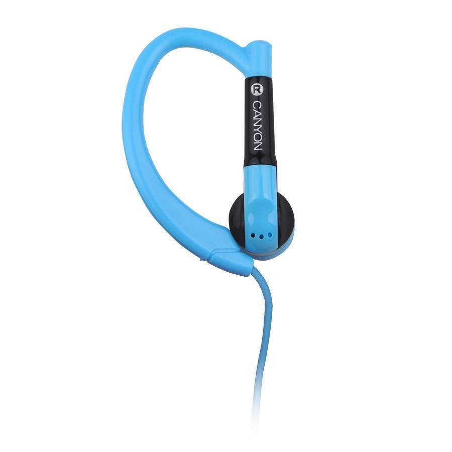 Canyon CNS-SEP1 Sport, Blue наушникиCNS-SEP1BLГарнитура Canyon CNS-SEP1 обеспечивает максимум свободы во время занятий спортом или активного отдыха. Ее округлые заушины надежно фиксируют динамики в ухе, удерживая гаджет даже при резких движениях головой. Компактный пульт управления, совмещенный с микрофоном, обеспечивает максимальное удобство для управления звонками и воспроизведением музыки с мобильного устройства.