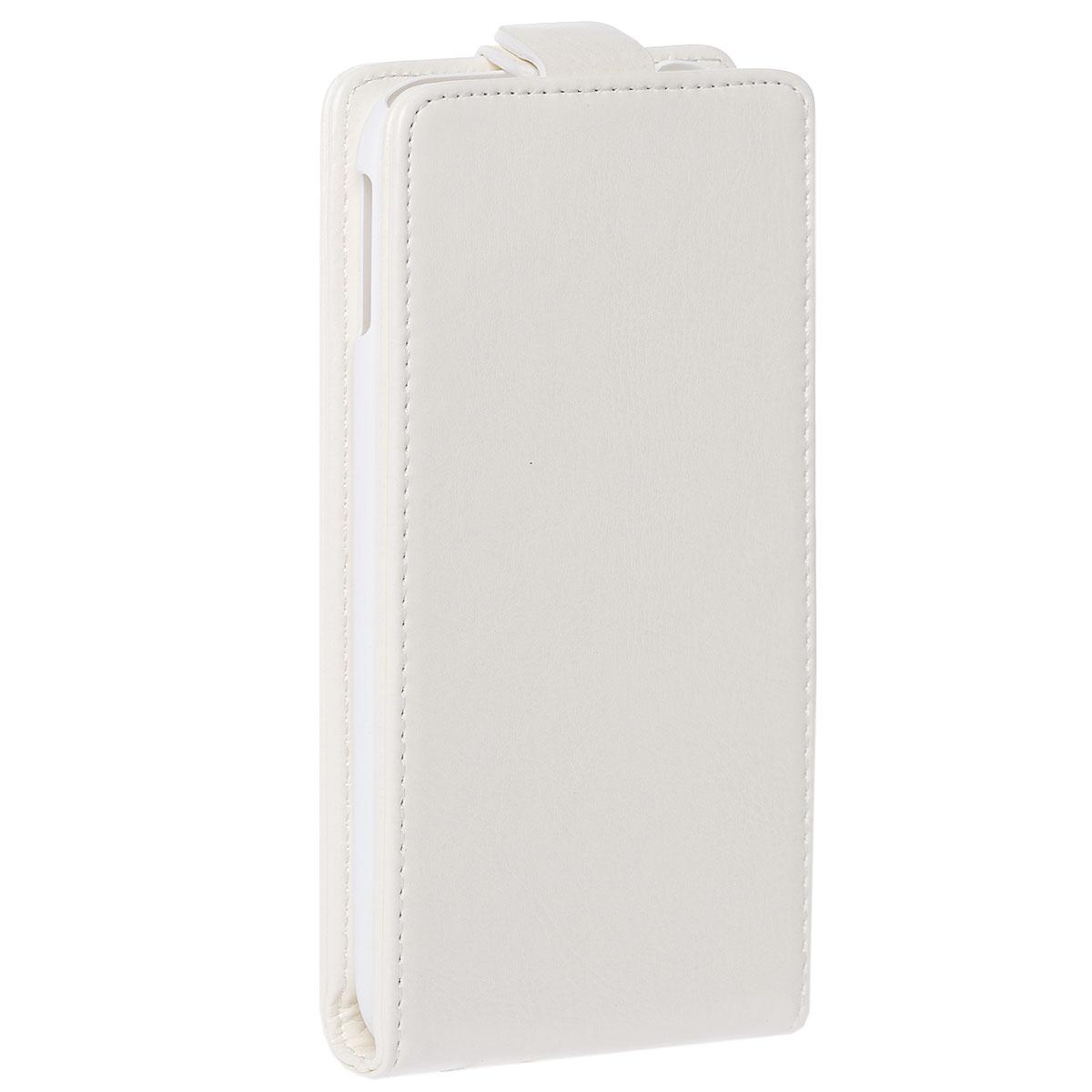 Skinbox Flip Case чехол для HTC One M8, WhiteT-F-HOM8Чехол Skinbox Flip Case выполнен из высококачественного поликарбоната и экокожи. Он надежно защитит ваше устройство от пыли, влаги и механических повреждений. Обеспечивает свободный доступ ко всем разъемам и клавишам смартфона.
