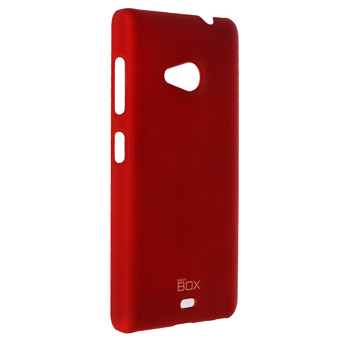 Skinbox Shield 4People чехол для Microsoft Lumia 535, RedT-S-ML535-002Чехол Skinbox Shield 4People для Microsoft Lumia 535 предназначен для защиты корпуса смартфона от механических повреждений и царапин в процессе эксплуатации. Имеется свободный доступ ко всем разъемам и кнопкам устройства. В комплект также входит защитная пленка на экран телефона.