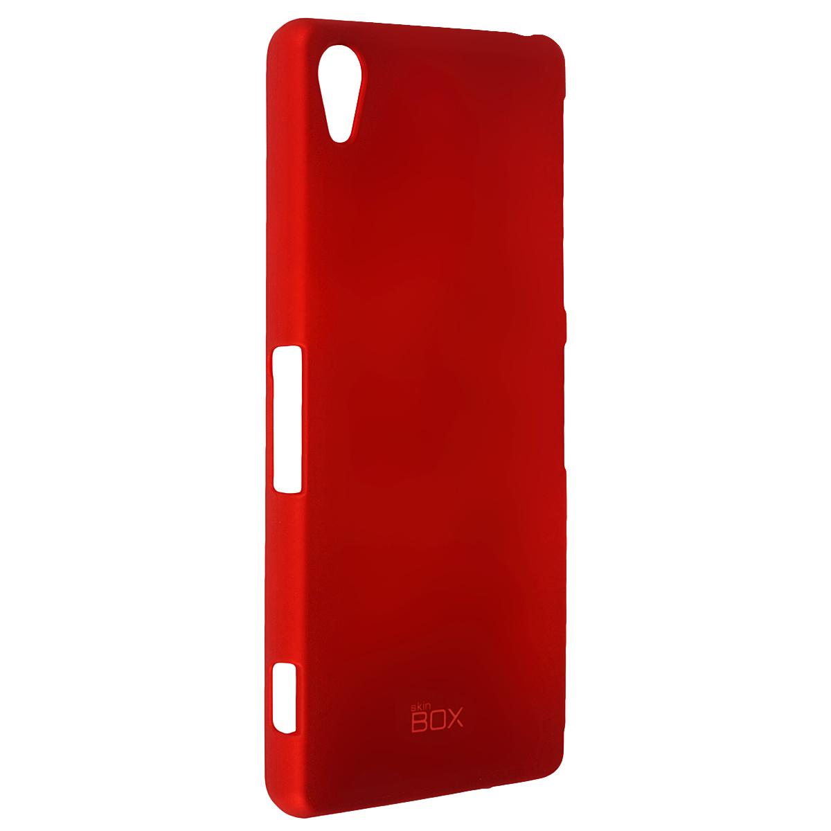 Skinbox Shield 4People чехол для Sony Xperia Z3, RedT-S-SXZ3-002Чехол Skinbox Shield 4People для Sony Xperia Z3 предназначен для защиты корпуса смартфона от механических повреждений и царапин в процессе эксплуатации. Имеется свободный доступ ко всем разъемам и кнопкам устройства. В комплект также входит защитная пленка на экран телефона.