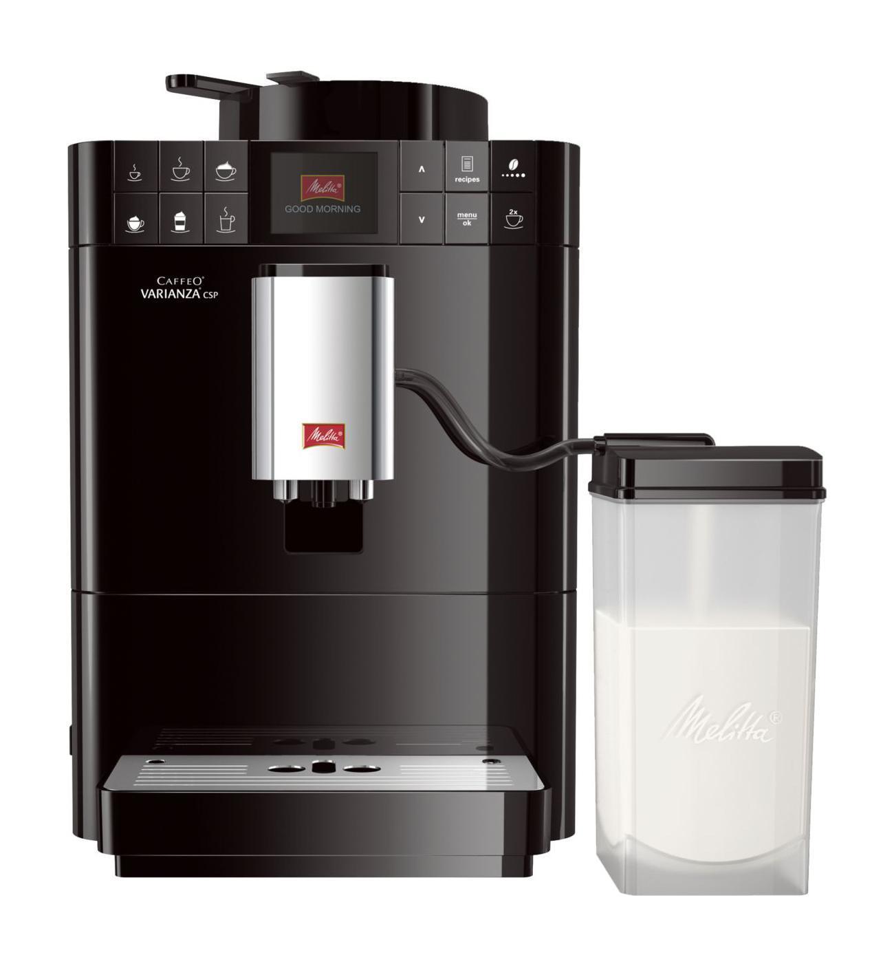 Melitta Caffeo F 570-102 Varianza CSP, Black кофемашина6708795MISSION eco & care Мы разработали лэйбл, который помогает потребителям в выборе продукции, гарантирующей ощутимое наслаждение. В основе данного лэйбла лежит разработанная нами система ценностей My Bean Select My Bean Select от Melitta позволяет Вам свободно выбирать тип зерна из всего многообразия, доступного с каждой новой чашкой кофе. Наряду со стандартным контейнером для зерен, эта инновация даст Вам возможность попробовать различные типы зерен для каждой новой чашки. Это действительно просто с практичной мерной ложечкой, входящей в комплект Система Best Aroma System PLUS ечать Aromasafe на контейнере для зерен означает, что вкус и аромат кофейных зерен надежно сохранены. Функция Bean to Cup обеспечивает помол и варку только того количества зерен, которое Вам необходимо. Кофемолка работает до полного опустошения, тем самым предотвращая смешивание различных сортов зерен. Уникальные процессы предварительного...