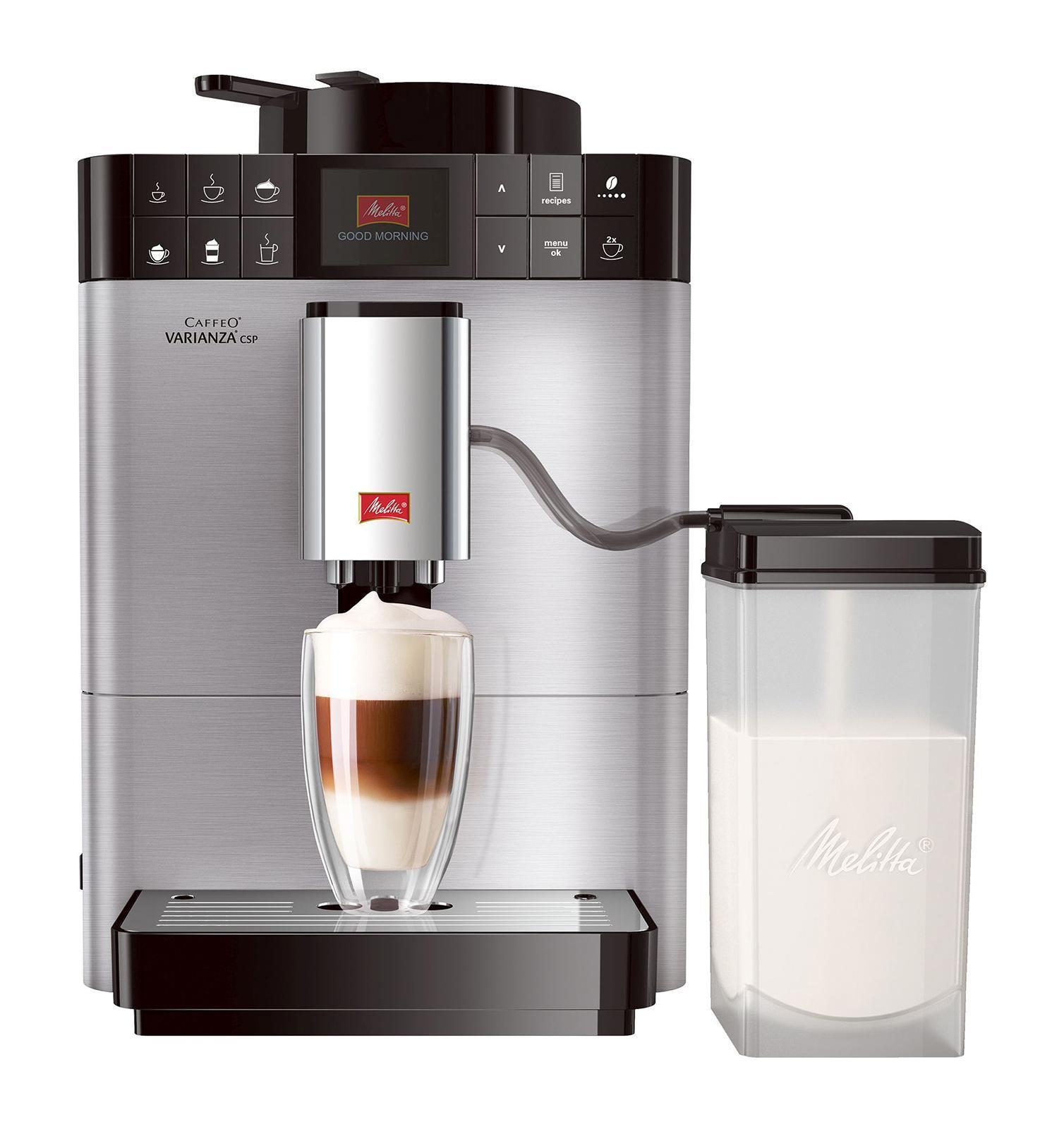 Melitta Caffeo F 570-101 Varianza CSP, Silver кофемашина6736040MISSION eco & care Мы разработали лэйбл, который помогает потребителям в выборе продукции, гарантирующей ощутимое наслаждение. В основе данного лэйбла лежит разработанная нами система ценностей My Bean Select My Bean Select от Melitta позволяет Вам свободно выбирать тип зерна из всего многообразия, доступного с каждой новой чашкой кофе. Наряду со стандартным контейнером для зерен, эта инновация даст Вам возможность попробовать различные типы зерен для каждой новой чашки. Это действительно просто с практичной мерной ложечкой, входящей в комплект Система Best Aroma System PLUS ечать Aromasafe на контейнере для зерен означает, что вкус и аромат кофейных зерен надежно сохранены. Функция Bean to Cup обеспечивает помол и варку только того количества зерен, которое Вам необходимо. Кофемолка работает до полного опустошения, тем самым предотвращая смешивание различных сортов зерен. Уникальные процессы предварительного...