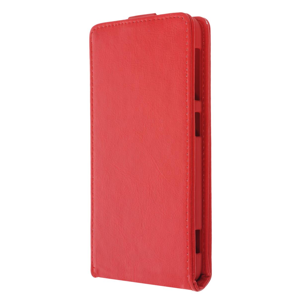Skinbox Flip Case чехол для HTC Desire Eye, RedT-F-HDEYEЧехол Skinbox Flip Case выполнен из высококачественного поликарбоната и экокожи. Он надежно защитит ваше устройство от пыли, влаги и механических повреждений. Обеспечивает свободный доступ ко всем разъемам и клавишам смартфона.