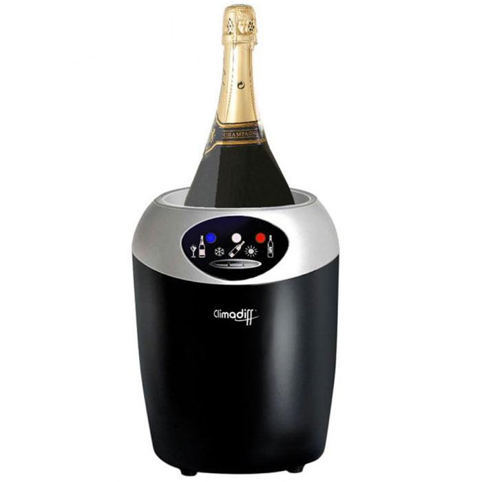 Climadiff Echanson кулерEchansonНастольный винный кулер Climadiff Echanson, оснащенный элементом Пельтье, позволит быстро охладить бутылку диаметром до 10,5 см, а затем будет поддерживать заданную температуру. Он также оснащен электронным термостатом с возможностью выбора одного из трех температурных режимов. Каждый режим оптимален для охлаждения определенного вида напитков: 8°C - температура, подходящая для шампанских, игристых, белых и розовых вин, 12°C - для белых и молодых красных вин, а температура 16 °C позволяет идеально подготовить красные выдержанные вина.
