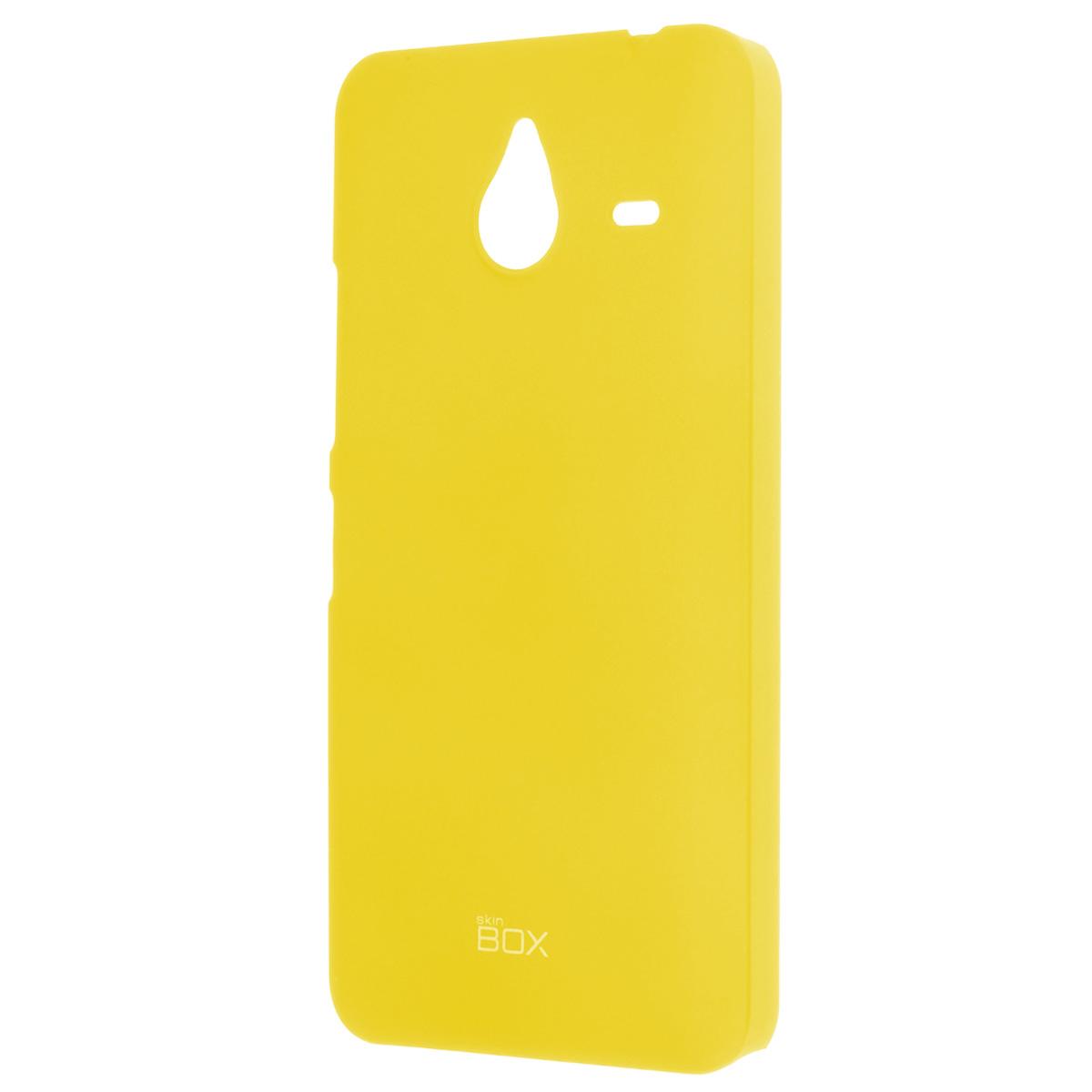 Skinbox Shield 4People чехол для Microsoft Lumia 640XL, YellowT-S-ML640XL-002Накладка Skinbox Shield 4People для Microsoft Lumia 640XL - отличный аксессуар для защиты корпуса вашего смартфона от внешних повреждений, сохраняющий размеры устройства и обеспечивающий удобство работы с ним. Устойчивый к истиранию пластик надежно амортизирует мелкие механические воздействия и предотвращает появление царапин или потертостей на корпусе вашего гаджета. В комплект также входит защитная пленка для экрана смартфона.