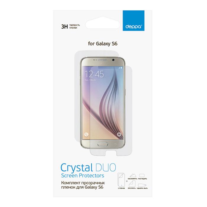 Deppa комплект защитных пленок для Samsung Galaxy S6, прозрачные61370Комплект защитных пленок Deppa для Samsung Galaxy S6 защитит экран вашего устройства от царапин. Пленки изготовлены из 3-слойного материала PET, изготовленного в Японии.
