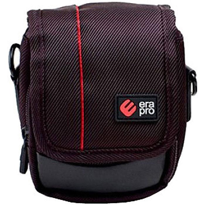 Era Pro EP-010912 Black, чехол для фотокамерыEP-010912Чехол Era Pro EP-010912 из твила - полезная и незаменимая вещь, предназначенная для переноски и хранения компактных фотоаппаратов. Закрывается при помощи клапана и имеет внешний карман на молнии для хранения аксессуаров.
