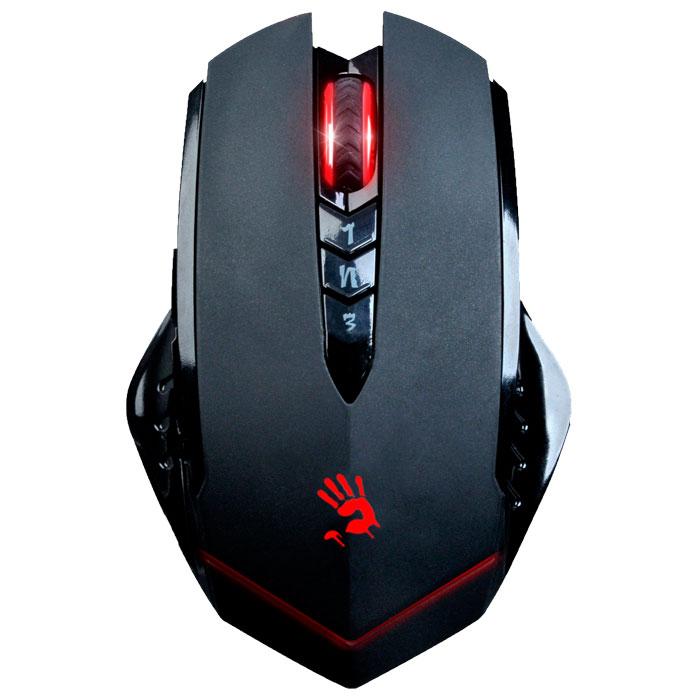 A4Tech Bloody R8, Black игровая мышь775475A4Tech Bloody R8 - беспроводная игровая мышь высокого качества с показателями как у проводных аналогов. Пятиступенчатая защита беспроводного сигнала защищает его и исключает его потерю при работе. Уникальная технология Ahead сокращает время отклика мыши до 1 мс, в то время как у обычной мыши - 18 мс. Отсутствие случайных двойных кликов сохранит долговечность кнопок. Предусмотрен Простой, Более сложный и Высокий уровень сложности для всех игр. Core1 подойдет для ролевой игры, Core2 - для FPS игр, а Core3 - для более продвинутых FPS игр (Ultra-core 3 приобретается дополнительно). 8 программируемых кнопок Для шутеров от первого лица предусмотрены три режима стрельбы на левую кнопку. Левой кнопкой переключайте оружие, а кнопками 1, N и 3 - выстрелы. один выстрел, стрейф или тройной выстрел для стрельбы в любой игре.