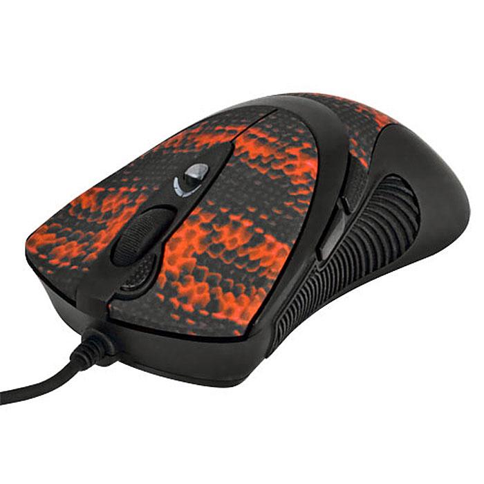 A4Tech XL-740K, Black Red игровая мышь94399Проводная лазерная мышь A4Tech XL-740K имеет новую эргономичную форму, обеспечивающую максимальный комфорт в игре. По бокам сделаны прорезиненные вставки, что исключает выскальзывание мыши в самой напряженной игровой ситуации. Мышь исключительно плавно движется при любых поворотах, реагируя на малейшие движения быстро и четко. Сенсор модели расположен непосредственно под центром ладони, что обеспечивает максимальную точность позиционирования курсора. В корпусе мыши находится специальный картридж, который вмещает до 7 грузиков общим весом 19,5 грамм. Их можно использовать для того, чтобы наилучшим образом отрегулировать вес мыши и достичь оптимальной инертности и сбалансированности, в соответствии с индивидуальными предпочтениями пользователя. Основные кнопки лазерной мыши «интегрированы» в корпус и составляют с ним единое целое. Две удобных кнопки под большим пальцем программируются, по умолчанию они выполняют команду «Вперед»/ «Назад». Рядом с колесом...