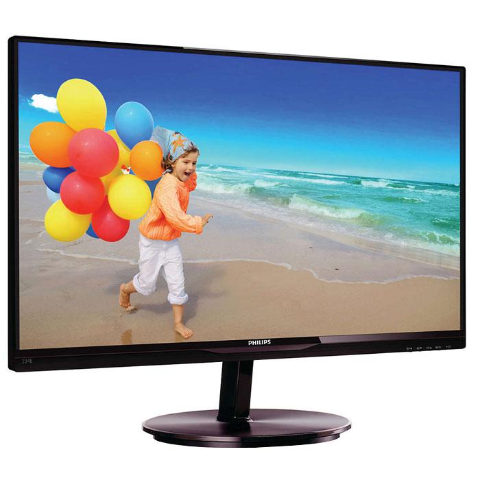 Philips 234E5QSB (00/01), Black монитор234E5QSBСтильный дисплей Philips 234E5QSB с ультратонкой рамкой и экраном AH-IPS позволяет насладиться потрясающим реалистичным изображением. Ультратонкая рамка в минималистичном стиле: Новые дисплеи Philips отличаются не только панелями, выполненными по новейшим технологиям, но и минималистичным дизайном, выраженным в ультратонкой рамке шириной всего 2,5 мм. Общий размер рамки вместе с черной полосой на панели шириной около 9 мм значительно уменьшен, что делает ее практически незаметной и максимально увеличивает область просмотра. Дисплеи с ультратонкой рамкой особенно подходят для работы с приложениями в многоэкранном режиме, такими как игры, профессиональные приложения для графического дизайна и другие, создавая впечатление, будто вы смотрите на один большой экран. Дисплей AH-IPS обеспечивает превосходное качество изображения и широкий угол обзора: Дисплей AH-IPS обеспечивает превосходное качество изображения и широкий угол обзора В...