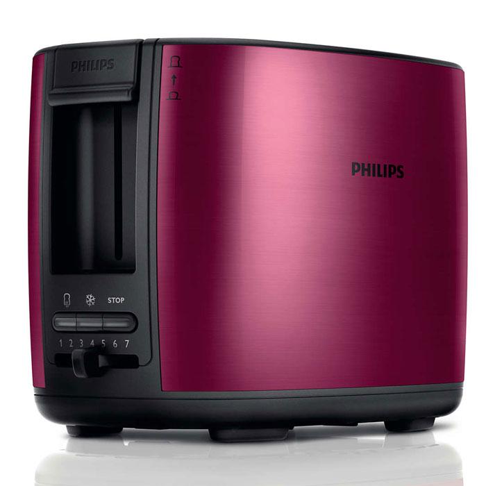 Philips HD2628/00, Burgundy тостерHD2628/00Тостер Philips HD2628 с отделениями регулируемой ширины для приготовления вкусных тостов. Готовьте равномерно подрумяненные до золотистой корочки тосты разной толщины. Прибор удобен в использовании и оснащен такими полезными функциями, как разморозка и подогрев. Безопасное использование благодаря специальному подъемнику, кнопке отмены и не нагревающейся внешней поверхности. Съемный поддон для крошек для простой очистки: Простая очистка благодаря съемному поддону для крошек. Корпус тостера не нагревается: Корпус тостера Philips не нагревается. Регулятор степени обжаривания: Индивидуальная настройка температурного режима для приготовления вкусных тостов. Система автоматического отключения при застревании ломтика хлеба: Тостер автоматически выключается, если ломтик хлеба застрял внутри. Разморозьте хлеб или подогрейте недавно приготовленные тосты за один прием: Кнопка разморозки на тостере позволяет размораживать и...