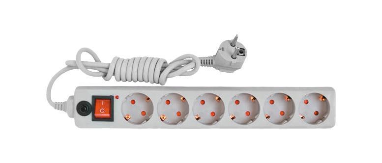 Сетевой фильтр UNIVersal, ПВС (3*0,75), цвет: серый, 3 м83293Используется в жилых и офисных помещениях для защиты компьютеров и другой электронной аппаратуры от высокочастотных помех и импульсных перенапряжений в электрических сетях переменного тока до 250В вызванных: грозовыми разрядами, работой электротранспорта, авариями на подстанциях, работой промышленного оборудования. Характеристики: Материал корпуса: высококачественный полипропилен импортного производства. Материал деталей контактных групп: латунь. Номинальное напряжение: 220 В. Количество розеток: 6. Длина кабеля электропитания: 3 м. Номинальный ток: 10 А. Условие эксплуатации: от +1 до +35°С. Размер в упаковке: 40 см х 10 см х 5,5 см. Характеристики: Материал корпуса: высококачественный полипропилен импортного производства. Материал деталей контактных групп: латунь. Номинальное напряжение: 220 В. Количество розеток: 6. Длина кабеля электропитания: 3 м. Номинальный ток: 10 А. Условие эксплуатации: от +1 до +35°С. ...