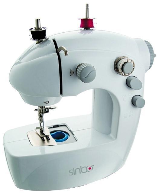 Sinbo SSW 101, White швейная машинаSSW 101С этой швейной машиной вам предоставляется возможность получитьудовольствие от шитья. Теперь, также как и с применением большой швейноймашины, вы сможете легко и без проблем отремонтировать одежду, белье илишторы, пошить новую одежду. Виды строчек:Верхняя двухцветная декоративнаяПрямой стежок