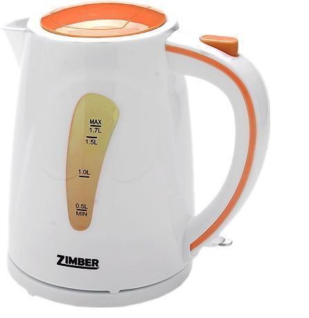 Zimber ZM-10840 электрический чайникZM-10840Электрический чайник Zimber ZM-10840 является прекрасным решением для тех, кто любит устраивать себе перерывы в работе на чашечку чая или кофе. Он прост в управлении и долговечен в использовании. Чайник автоматически выключается при закипании.