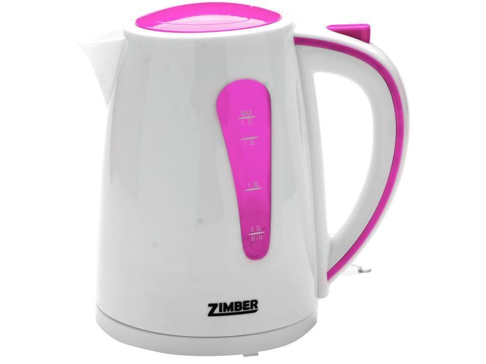 Zimber ZM-10845 электрический чайникZM-10845Быстро вскипятить воду или поддерживать ее горячей в течение долгого времени поможет чайник Zimber. На рынке бытовой техники этот прибор пользуется неизменной популярностью благодаря высокому качеству, безопасности и удобству в использовании.Чайник оснащен скрытым нагревательным элементом, что очень удобно – он более долговечен, чем спираль, и не подвержен образованию накипи. Для безопасного использования в чайниках Zimberпредусмотрены функции автоматического отключения при отсутствии воды или открытии крышки, а также встроенная защита от перегрева.Яркие цвета несомненно порадуют и внесут краски в Вашу кухню!