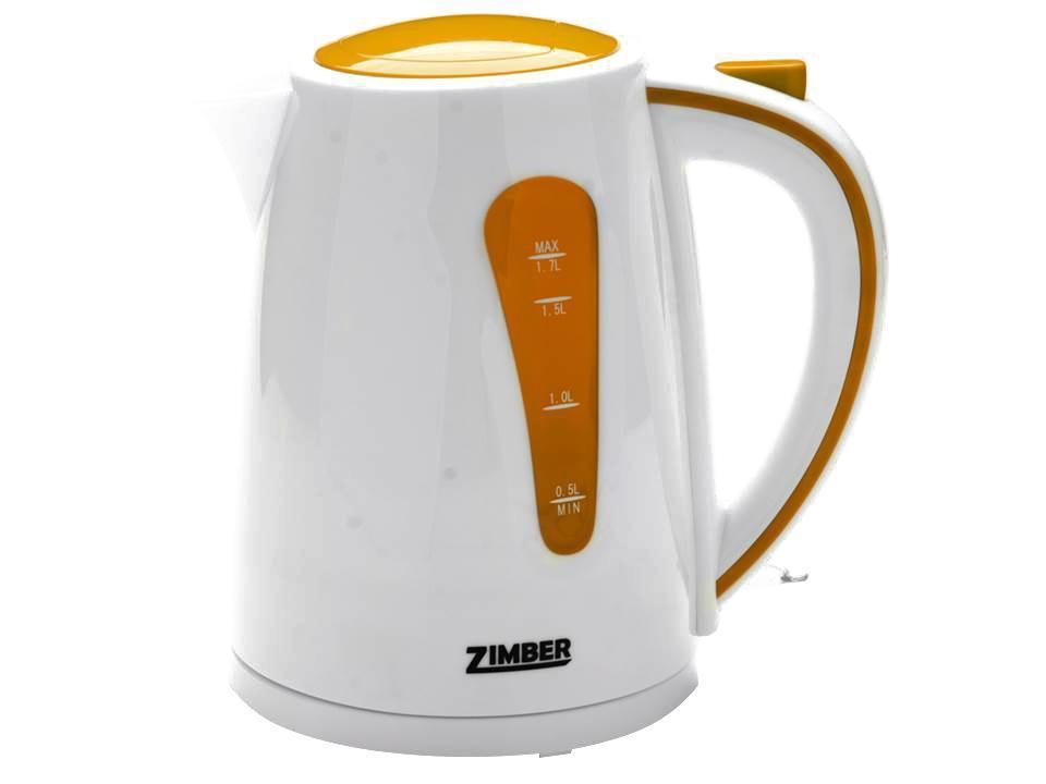 Zimber ZM-10844 электрический чайникZM-10844Быстро вскипятить воду или поддерживать ее горячей в течение долгого времени поможет чайник Zimber. На рынке бытовой техники этот прибор пользуется неизменной популярностью благодаря высокому качеству, безопасности и удобству в использовании. Чайник оснащен скрытым нагревательным элементом, что очень удобно – он более долговечен, чем спираль, и не подвержен образованию накипи. Для безопасного использования в чайниках Zimber предусмотрены функции автоматического отключения при отсутствии воды или открытии крышки, а также встроенная защита от перегрева. Яркие цвета несомненно порадуют и внесут краски в Вашу кухню!