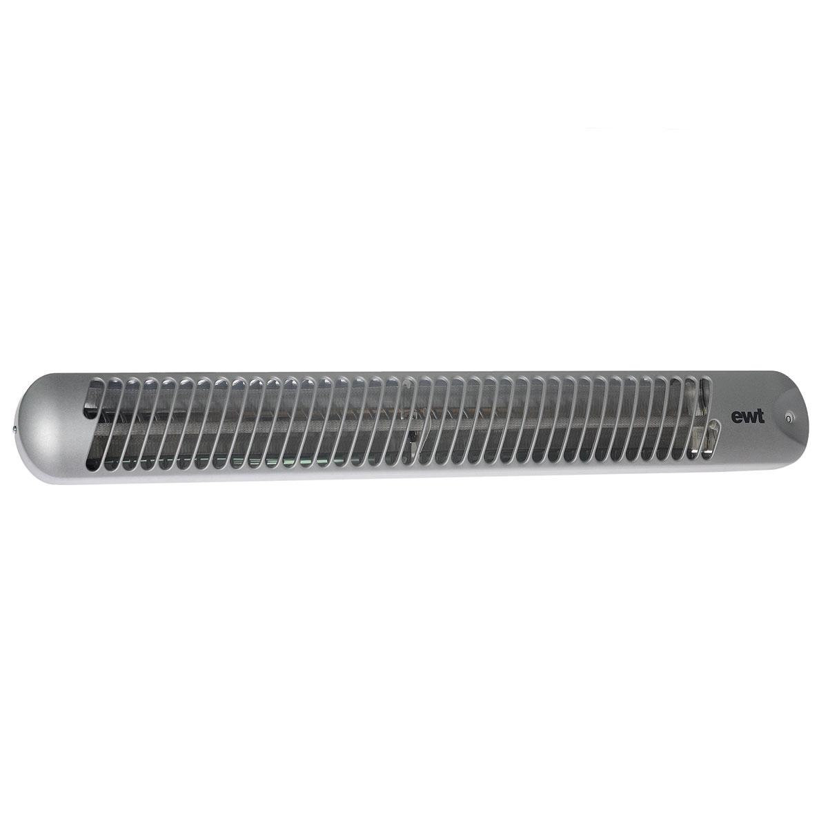 EWT Strato IR 106 S Baby кварцевый обогревательStrato IR 106 S BabyОбогреватель EWT Strato IR 106 S Baby согревает сразу все поверхности – мебель, полы, стены. То есть греется не воздух, а все что находится в помещении. Благодаря этому нет движения воздуха – вы можете не опасаться сквозняков и разлетающейся пыли. Поскольку сам воздух не греется, не происходит сжигания кислорода и снижения уровня влажности. В комплект входят крепежные детали.