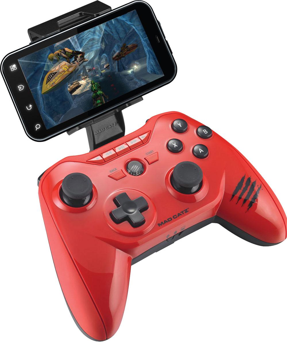 Mad Catz C.T.R.L.R, Gloss Red беспроводной геймпад (MCB322660013/04/1)MCB322660013/04/1Беспроводной геймпад Mad Catz C.T.R.L.R - универсальное боевое оружие, которое позволит взглянуть под другим углом на любимые мобильные игры. Это устройство подарит совершенно новые впечатления от приложений, управлять которыми раньше можно было только через интерфейс тач-скрин. Mad Catz C.T.R.L.R поддерживает технологии Bluetooth Classic и Bluetooth Smart(4.0), поэтому совместим и с актуальными, и с устаревшими мобильными устройствами. И, конечно же, гаджет оснащен полным набором элементов управления. С помощью утилиты GameSmart также можно с легкостью программировать кнопки и джойстики устройства. Подходит к устройствам под Android, Smart Devices, Fire TV, PC и M.O.J.O