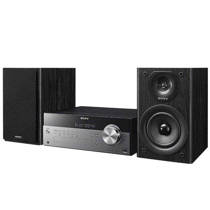 Sony CMT-SBT100 микросистемаCMTSBT100.RU1Забудьте о проводах – теперь музыку можно передавать в аудиосистему прямо с вашего смартфона. При помощи беспроводной технологии NFC Bluetooth ваши любимые песни будут звучать с мощностью 50 Вт. Аудиосистема также оснащена CD-проигрывателем, чтобы вы могли наслаждаться хитами из вашей коллекции CD-дисков. Все, что нужно — одно касание: Больше нет необходимости возиться с проводами. Просто прикоснитесь своим NFC-смартфоном или планшетным компьютером к звуковой системе, чтобы насладиться богатым звучанием любимых мелодий. Максимум звука: Почувствуйте, как звук в 50 Вт заполняет все пространство, услышьте чистоту высоких тонов благодаря встроенному цифровому усилителю S-Master R и мощность глубоких басов благодаря двухполосным динамикам с фазоинвертером. Технология беспроводного подключения Bluetooth: Проигрывайте музыку прямо с устройства, поддерживающего беспроводную связь Bluetooth. Вход USB: Для мгновенного начала воспроизведения...