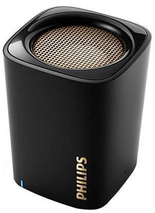 Philips BT100B/00 акустическая системаBT100B/00Беспроводная передача звука через Bluetooth Bluetooth — надежная и энергоэффективная технология беспроводной связи малого радиуса действия, которая позволяет с легкостью подключать iPod/iPhone/iPad и другие Bluetooth-устройства, например смартфоны, планшетные компьютеры и ноутбуки. Теперь вы сможете без проводов воспроизводить на этой акустической системе любимую музыку и звук во время игр или просмотра видео. Функция антиклиппинга для громкого звука без искажений Функция антиклиппинга позволит вам даже при низком заряде батареи слушать музыку высокого качества на любой громкости. Она позволяет работать с входными сигналами от 300 мВ до 1000 мВ и воспроизводить звук без искажений. Это дает возможность воспроизводить музыкальный сигнал так, как он проходит через усилитель, и сохранять пиковые значения в пределах диапазона усилителя. При этом устраняются искажения звука, вызванные ограничениями, без влияния на громкость. При низком уровне...