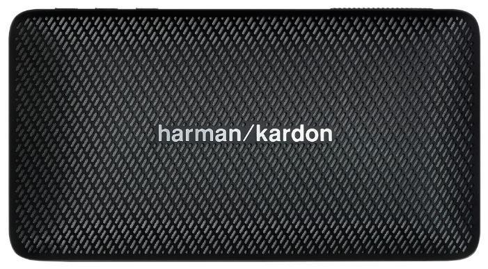Harman Kardon Esquire Mini, Black портативная акустическая система6925281900044Уникальный дизайн. Превосходный звук. Бескомпромиссно Harman Kardon Esquire Mini воплощает изысканность и мобильность в элегантном алюминиевом корпусе с отделкой из натуральной кожи. В дизайне сделан акцент на знаменитый знак «/», используемый в логотипе премиального бренда: его повторяет узор на керамическом гриле и хромированная вставка на обратной стороне, которая также может служить подставкой. Использование материалов наивысшего качества по праву позволяет считать Esquire Mini престижным аксессуаром путешественника. Узнаваемый стереозвук Harman Kardon обеспечивают два высококачественных динамика номинальной мощностью 4 Вт каждый, с диапазоном воспроизводимых частот от 180 Гц до 20 кГц. Фазоинвертор увеличивает интенсивность низких частот. По глубине, мощности и чистоте воспроизведения это сверхкомпактное устройство претендует на лучший звук в своем классе Несмотря на небольшие размеры корпуса, новинка удивляет широким функционалом. Благодаря...