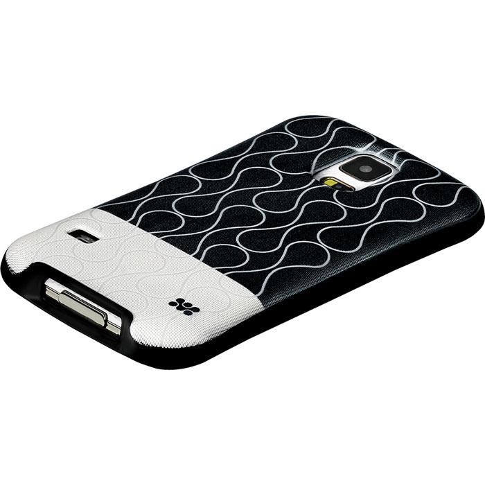 Promate Cameo-S5 чехол-накладка для Samsung Galaxy S5, Black00007735Promate Cameo-S5 - возможность заявить о своем стиле через Samsung Galaxy S5. Это прежде всего сочетание дизайнерской роскоши и одновременно максимальная защита для дорогого устройства. Скрытый карман позволяет использовать накладку для хранения кредитный карт, абонементов, денег и прочего. Стиль и функциональность слились в дизайне Promate Cameo-S5, предлагая пользователю максимальный комфорт.