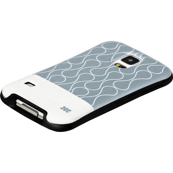 Promate Cameo-S5 чехол-накладка для Samsung Galaxy S5, Grey00007937Promate Cameo-S5 - возможность заявить о своем стиле через Samsung Galaxy S5. Это прежде всего сочетание дизайнерской роскоши и одновременно максимальная защита для дорогого устройства. Скрытый карман позволяет использовать накладку для хранения кредитный карт, абонементов, денег и прочего. Стиль и функциональность слились в дизайне Promate Cameo-S5, предлагая пользователю максимальный комфорт.