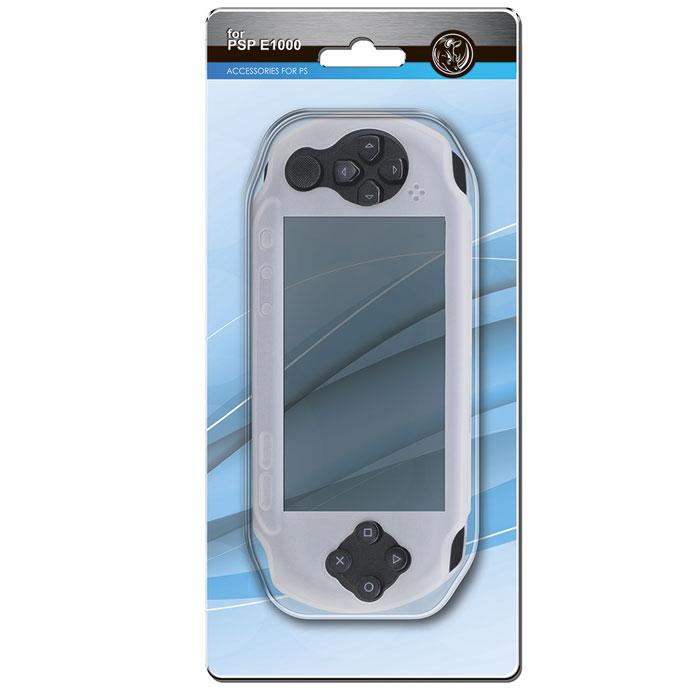 Силиконовый чехол Black Horns для Sony PSP E1000 (серый)BH-PSE0204(R)Силиконовый защитный чехол Black Horns для Sony PSP E1000 - стильная и надежная защита из высококачественного силиконового материала. Чехол надежно защитит вашу приставку от внешних воздействий. Покрытие имеет безопасную структуру, предотвращающее скольжение и вероятность выскальзывания из рук.