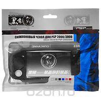 Black Horns Силиконовый чехол для PSP 2000/3000 (черный) BH-PSP02231(F)