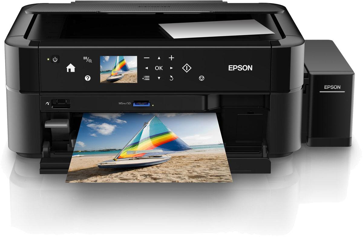 Epson L850 6-цветное МФУC11CE314026-ти цветный фотоцентр с чернильными емкостями вместо картриджей, обеспечивающими высокий ресурс расходных материалов Компания Epson представляет идеальное устройство для энтузиастов цифровой фотографии. Первый в своем роде фотоцентр «три в одном» серии «Фабрика печати Epson» - Epson L850, который позволяет достигать исключительного качества фотопечати. Epson L850 - это уникальный фотоцентр со встроенными емкостями для чернил, вместо картриджей, специально созданный для тех, кому необходимо универсальное устройство способное сканировать, копировать и печатать фотографии высочайшего качества с рекордно низкой себестоимостью. Приобретая Epson L850, вы становитесь не только обладателем уникального устройства с высоким ресурсом печати фотографий, но и получаете возможность печатать фотографии напрямую без использования компьютера. Вставьте карту памяти в специальный слот или подсоедините вашу фотокамеру по Pictbridge и выбирайте, редактируйте, и печатайте понравившиеся вам...
